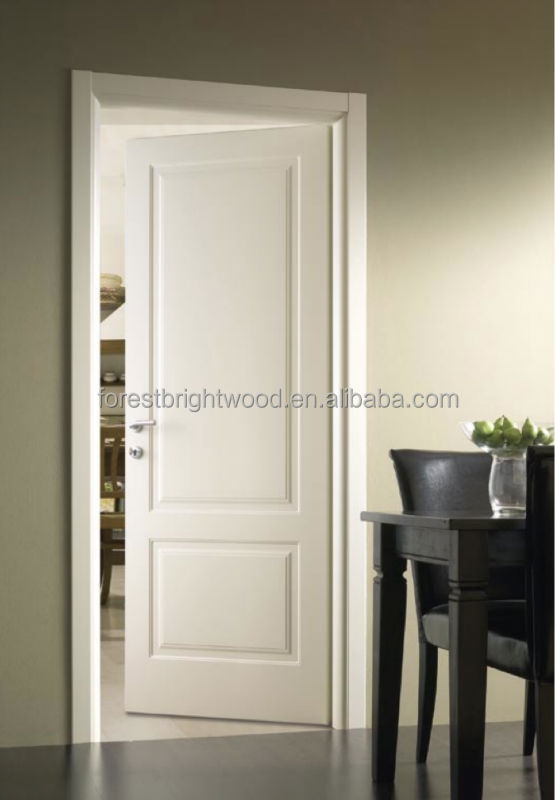 White painted craftsman wood door for hotel room buy for Wood doors painted white