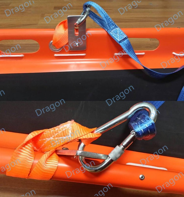 DW-BS003 CE Approved Helicopter PE Plastic medical basket stretcher