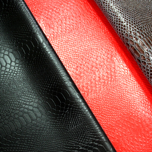 Snakeskin embossed PVC artificial leather for bags