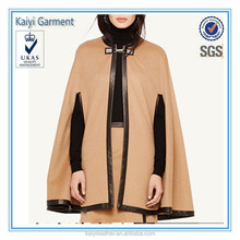 OEM 2015 new fashion wholesale poncho winter wool ladies cape