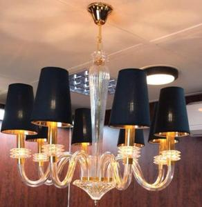 hanging gold pendant light fabric lamp shade cover ceiling lamp chandelier in Dubai