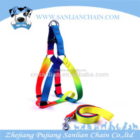 With free sample available soft rainbow dog pet products dog leash pet dog harness