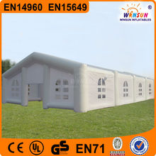 Customized outdoor large event party air white inflatable cube tent