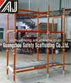 stable and durable facade scaffolding system for inside and outside