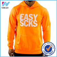Yihao New Design Custom Mens Sportswear Pullover Bodybuilding Gym Clothing Zip Hoodies Sweatshirts Wholesale