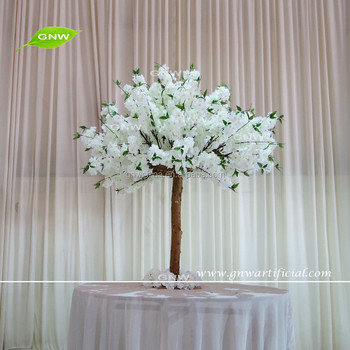 GNW Manufacturer Decorative Artificial Flower Tree Wedding Table Tree  Centerpieces