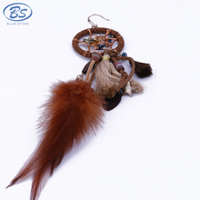 MBE005 bohemian earrings tribal thread beaded hoop tassel dream catcher feather earrings women jewelry