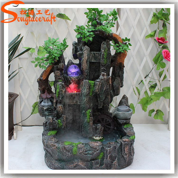 Good Product Artificial Fountain Wholesale Indoor Artificial Waterfall Fountain Fake Water