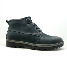 thick sole insulated men nubuck leather safety working shoes