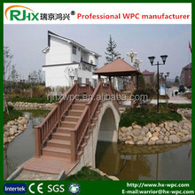 Outdoor wpc material fence panel with mositure-proof wood plastic composite material