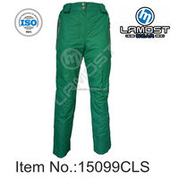 Women colorful green padded pant ski and snow pant