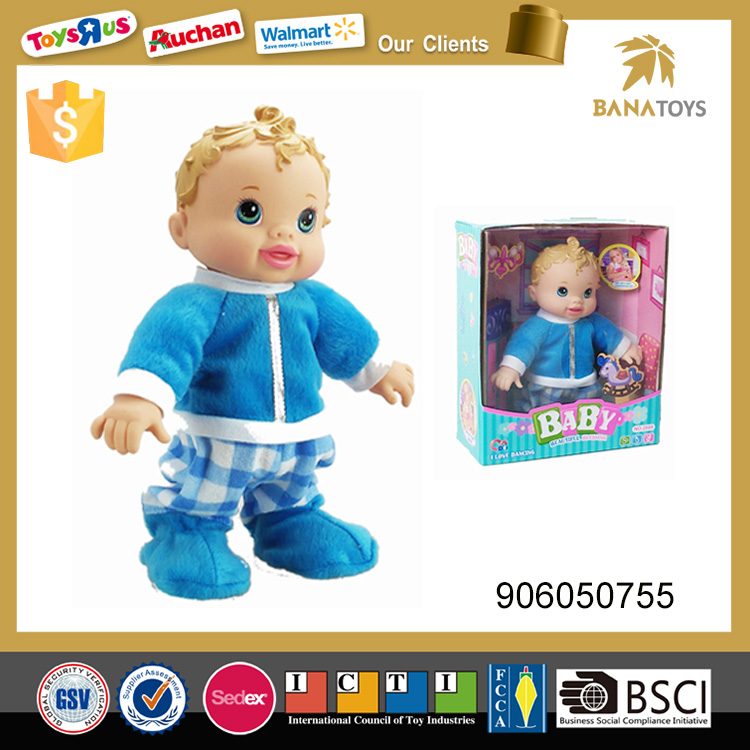 Interactive electric walking baby doll
