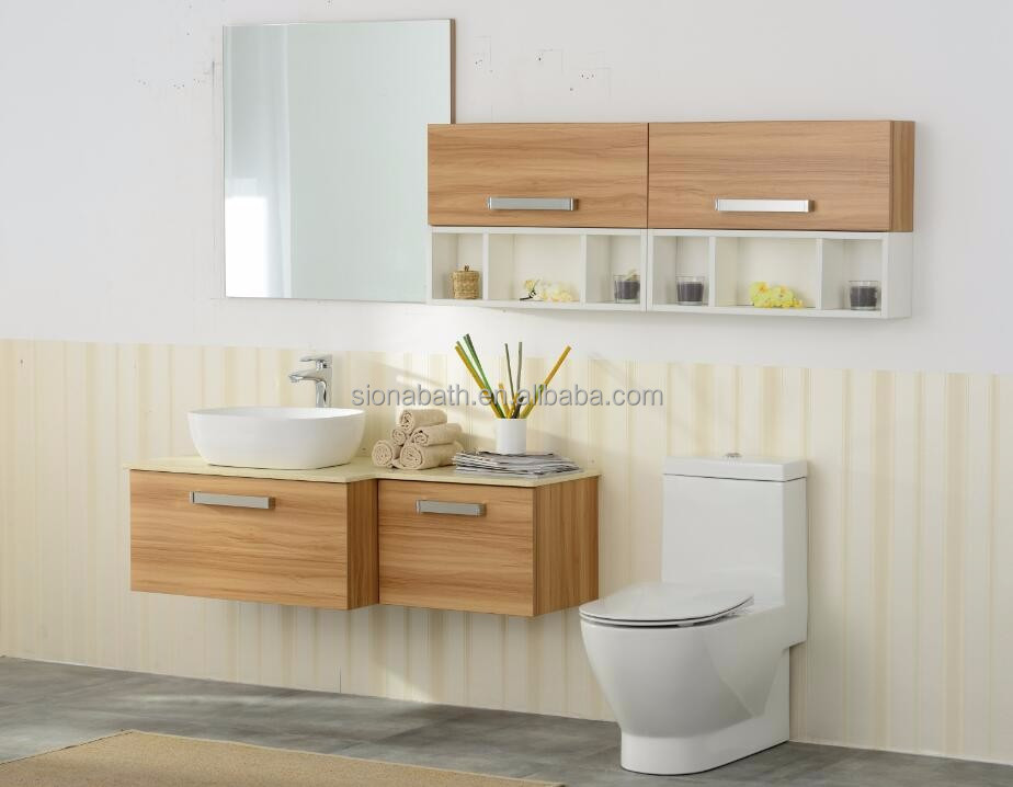 Sanitary ware wooden vanity fair bathroom furniture
