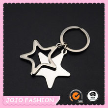 Sell as hot cake double stars pendant keychain/