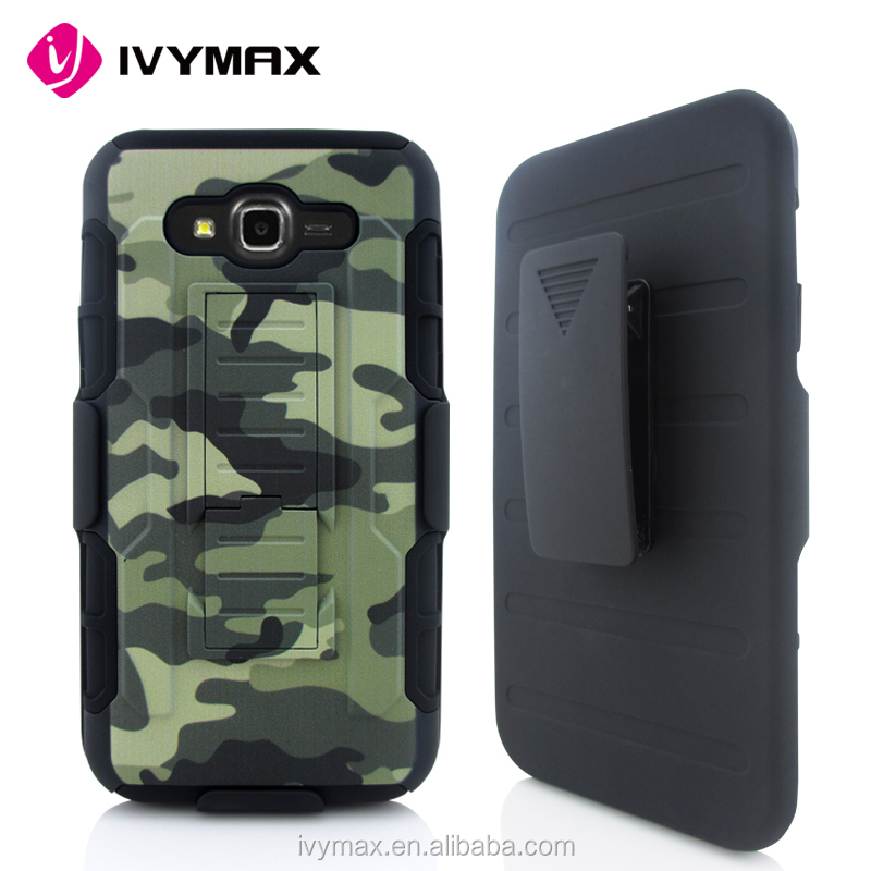 Phone accessory 3 in 1 sublimation printing hard shell holster combo protecitive cell phone case with belt clip for samsung J7
