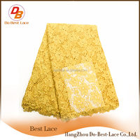 Embroidery Factory In Hangzhou Gold Indian Lace Embroidery Fabric 51-52