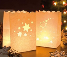 Store More Star Sky light Holder Luminaria Paper Lantern Candle Bag