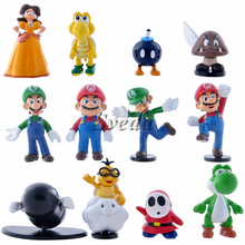Hot Super Mario PVC figure set of 12pcs Mini action figure with loose packing