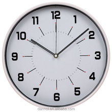 12 inch cheap plastic promotioinal wall clocks with clock movement m2188