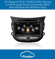 A8 Chipset 3G WiFi 3-ZONE 20 Disc Playing Car DVD Audio Player For Hyundai HB20 With GPS Radio BT IPOD Free Map