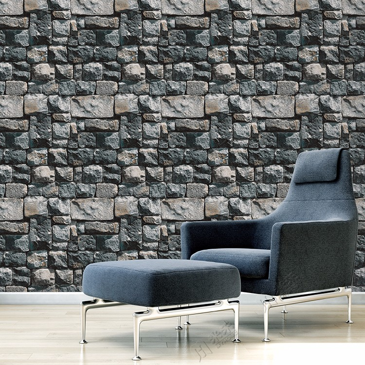 New stone design 3d brick designs vinyl pvc wallpaper made in China