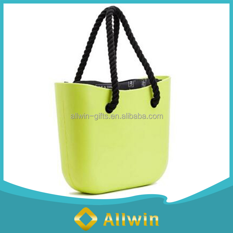 Strong Fashion Rubber Beach Silicone Tote Bag For Female