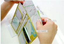 2012 new Korean fashion leather book holder for holding passport
