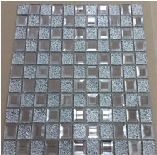 Art decorative wall mirror crystal glass wholesale gold color glass mosaic tile