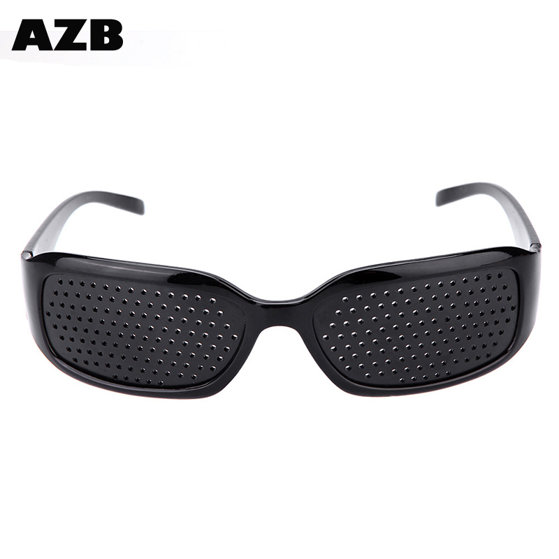 AZB Professional Vision Care Pin hole Eyeglasses thin temple glasses plastic Eyewears Oculos de sol with CE certificate