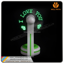 USB Programmable LED Digital Message Fans,Custom Drawing USB Powered LED Message Fans