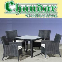 2012 new style aluminum frame rattan dining table set outdoor furniture