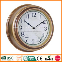 "PP antique 12"" movement wall clock for customized gifts 9006 gold"