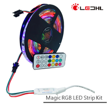 21Key RF Remote Control 30leds 12V SMD5050 RGB LED WS2811 Addressable Strip kit