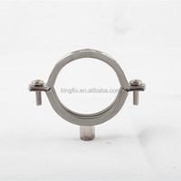 Stainless Steel Pipe Clamp With Rubber
