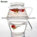 Eco-friendly up and down pyrex glass pitcher