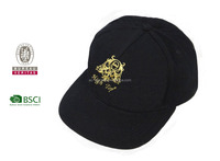 100%cotton,100% Cotton Material and Embroidered Pattern black cycling cap