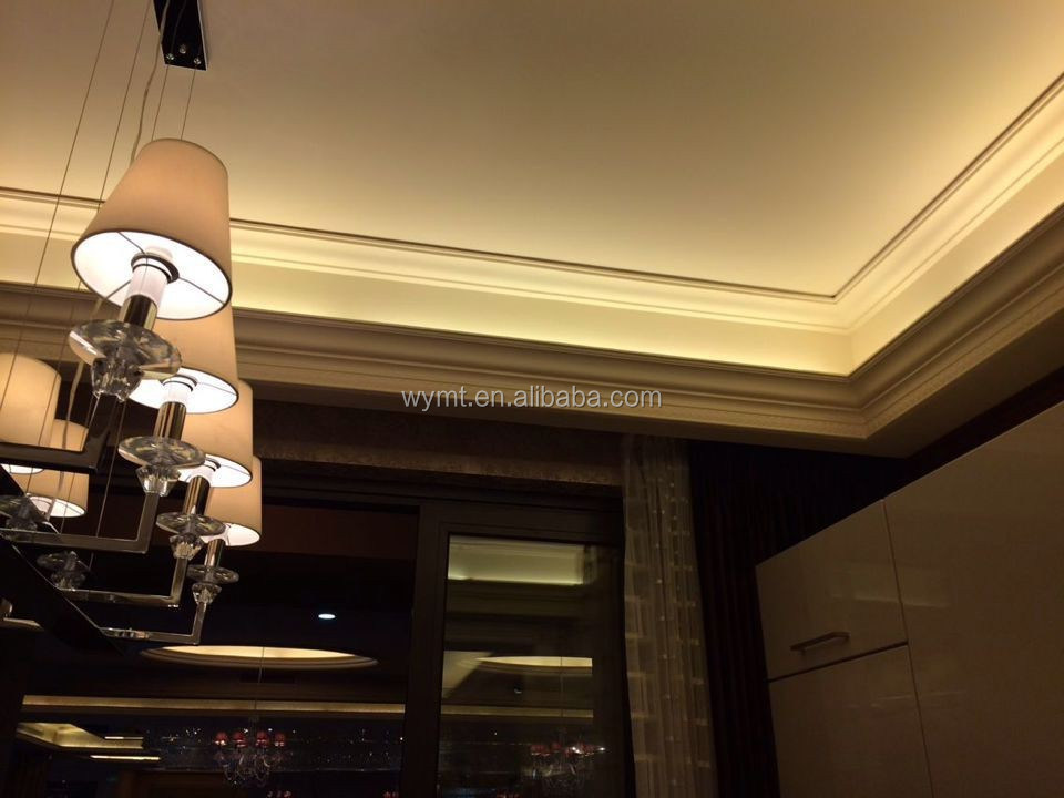 2016 new design of plaster paris of cornice with LED light inside with large stock for quick loading