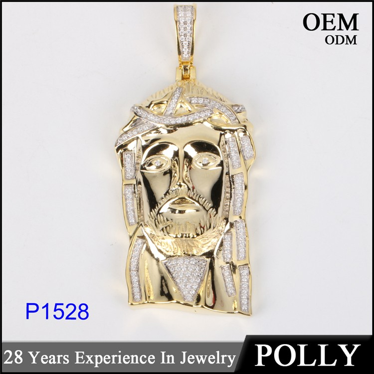 Micro set jesus pendant 925 sterling silver jesus piece jewelry for men