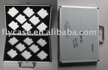 2012 new design aluminium stone box ,quartz stone sample dispaly case with logo print and safe locks