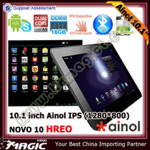 First ainol 10 inch dual core a9 tablet pc