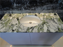 China green granite hotel vanity tops