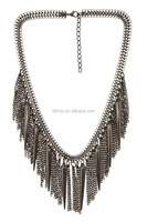 Chunky Metal Fringe Necklace