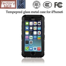"For iPhone 6 4.7"" tempered glass screen protector metal case, new products 2015"