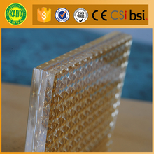 clear wire mesh decorative laminated glass for window glass office partition wall with fire rated time 90 minutes
