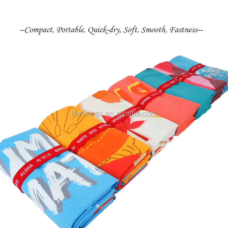 Orange Summer Paradise Bay Lifestyle Microfiber Towel For Body Backpacking