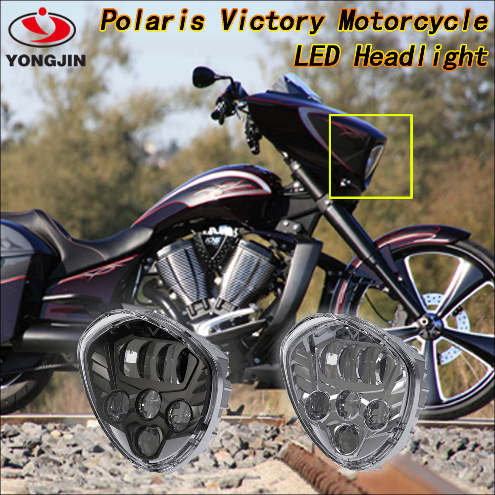 Aluminum housing IP67 led spot headlight for Polaris Victory motorcycle