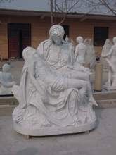 White marble virgin mary statues