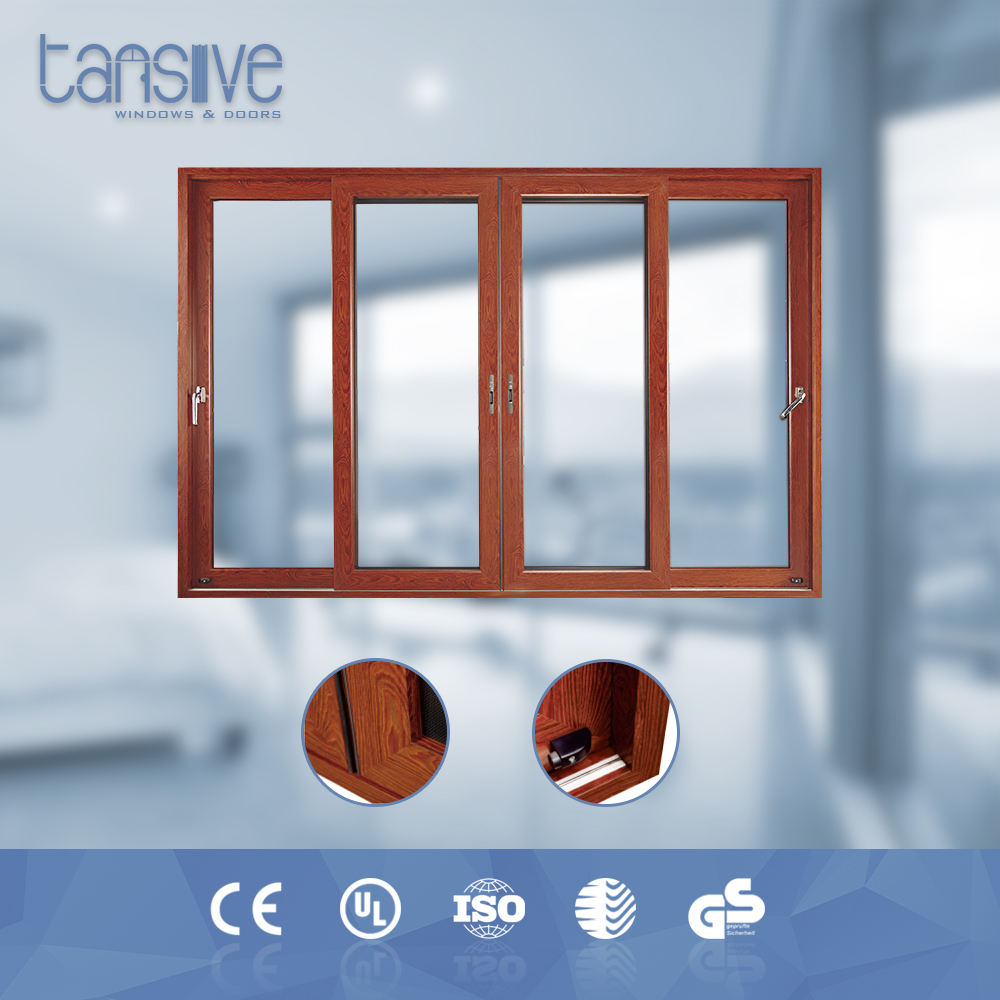 Tansive construction double glazed Powder coating Surface Finished aluminium tilt and slide door