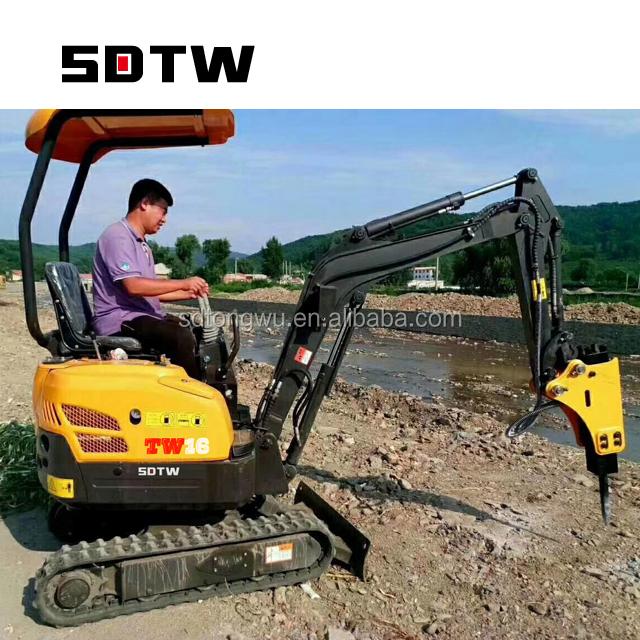 golden supplier hydraulic breaker for mini excavator with breaker, auger, ripper, gripper