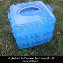 Lunch Box Transparent Clear Plastic Storage Box with Lid